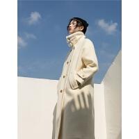 夹棉毛呢外套女秋冬小清新加厚呢子大衣长款过膝新款韩版学生