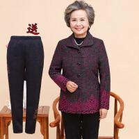 中老年女装外套妈妈春秋装外套奶奶套装/单件60-7080岁老年人冬装