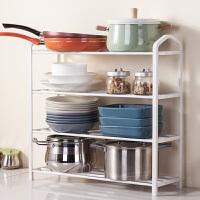 锅架 厨房置物架 厨房用品多层收纳架 沥水架碗碟架 泡菜罐子储物架 4176W 四层 加强版