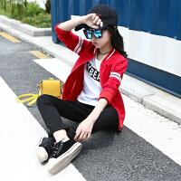 女童秋装套装2018新款中大童韩版儿童运动服女孩春秋季潮衣三件套