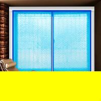 防风窗帘 窗帘定做拉链窗户密封防风保暖隔断浪漫窗帘布艺创意窗帘软门帘