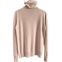 高领针织衫女士秋冬季修身显瘦纯色简约韩版基础款长袖毛衣打底衫 均码