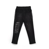 【限时购】秋装新款黑色韩版儿童牛仔裤春秋洋气长裤子