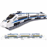 兼容积木电动轨道火车玩具城市系列和谐号天际拼装高铁男孩子