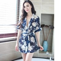 性感睡衣家居服包臀裙夏季女士浴袍日式和服角色扮演制服诱惑套装情趣内衣