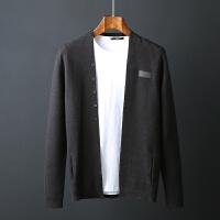 秋季男士针织衫外套圆领开衫修身韩版潮流百搭毛衣男青年外穿线衣