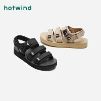 热风男士休闲凉鞋H65M0208