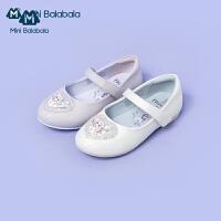 迷你巴拉巴拉儿童鞋子2020秋新款女童甜美休闲鞋