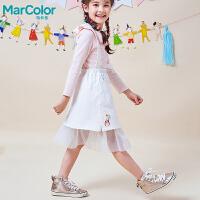 【1件2折】巴拉巴拉旗下MarColor马卡乐春新品女童网纱下摆甜美背带裙