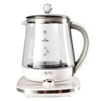 养生壶加厚玻璃电煮茶壶全自动家用多功能黑小花身茶机热燕窝炖盅 白色