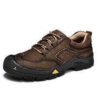 秋季低帮户外休闲鞋男徒步登山鞋防滑手工牛皮百搭大头鞋