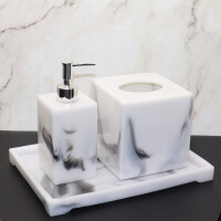 欧式样板房卫浴洗漱用品套件浴室摆件洗手液瓶纸巾盒托盘套装