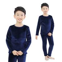 男童儿童保暖内衣套装加绒加厚中大童秋衣秋裤冬季新款男宝宝睡衣