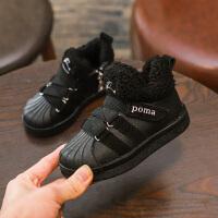 秋冬新款运动鞋女童鞋加绒加厚保暖男童鞋中大童鞋儿童二棉鞋