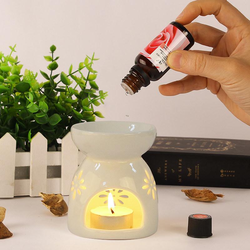 香薰灯香薰炉精油灯卧室香炉家用室内熏香炉助睡眠陶瓷香薰蜡烛灯