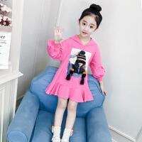 儿童连衣裙秋季2018新款韩版长袖卫衣春秋女孩休闲装