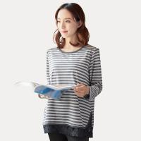 【网易严选 限时抢】孕产妇长袖哺乳T恤(含隐形拉链)
