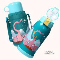 儿童保温杯带吸管不锈钢防摔水壶小学生幼儿园男女宝宝水杯子