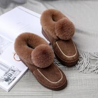 室内棉拖鞋男女冬季包跟防滑保暖软底居家用外穿毛绒月子情侣棉鞋
