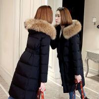 韩版女中长款加厚收腰显瘦棉衣时尚外套冬季棉袄