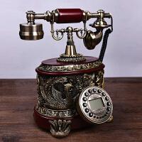 家居装饰品仿古电话家用复古电话机座机仿古董电话复古装饰摆件