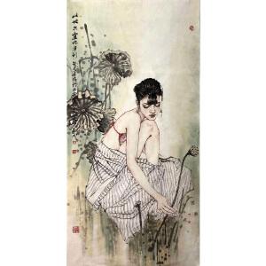 中国国家画院研究员,北京文史馆官员,国家一级画师赵建成(此地只宜明月到)12