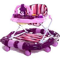 宝宝婴儿童学步车6/7-18个月u型多功能防侧翻手推车可折叠带音乐