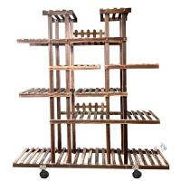 实木隔断花架碳化防腐室内阳台多肉盆景架花盆架木质花架