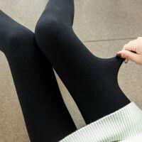 连裤袜女秋冬季袜裤加绒加厚款打底袜竖条纹打底裤女外穿薄绒 均码140斤内