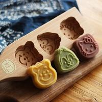 20190309105751811木质冰皮月饼儿童绿豆糕模子点心南瓜饼干卡通馒头模具烘焙工具