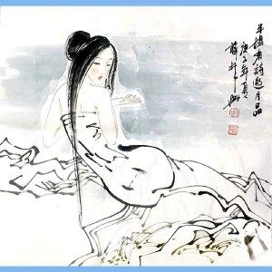 中国画家联盟主席,中国画艺术研究院副院长,中国国家机关美术家协会副主席,中国美协会员薛林兴(半榻有诗邀月品)