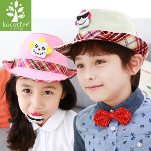 儿童帽子春秋宝宝帽子春秋男女童帽子渔夫帽2-4-8岁小孩帽子潮韩