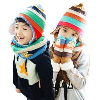 韩国KK树儿童帽子围巾手套套装一体男童女童冬季宝宝保暖护肤套装三件套