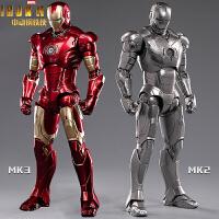 现货中动漫威钢铁侠MK3玩具手办MK2发光格纳库摆件机器人人偶模型