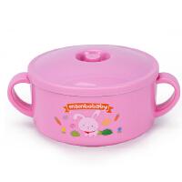 蔓葆双耳带盖不锈钢碗餐具宝宝卡通儿童碗防烫隔热汤碗保温碗