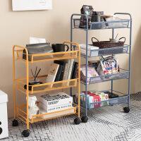 可移动小推车落地桌下收纳架厨房零食储物卧室家用