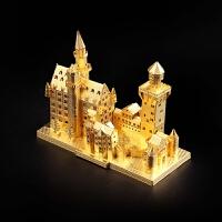 拼图 3立体拼图金属模型手工法国巴黎圣母院建筑拼装礼品