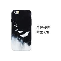 文艺iphone8/7手机壳苹果6s/7plus保护套x磨砂硬壳6splus男女款8x 4.7寸苹果7/8【黑白 羽毛