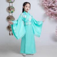 儿童古装复古女童仙女汉服冬装改良中国风汉素日常童装表演服装