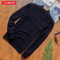 秋冬季男士半高领毛衣男上衣针织衫外套韩版潮流中领衫纯色打底衫