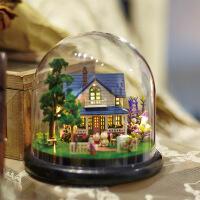 一起环游透明罩模型 玻璃球diy小屋 情侣生日礼物