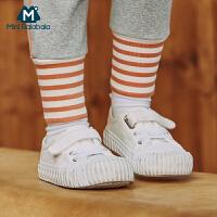 【618年中庆 2件4折价:64】迷你巴拉巴拉童鞋男童女童板鞋2020春季新款一脚蹬儿童休闲帆布鞋