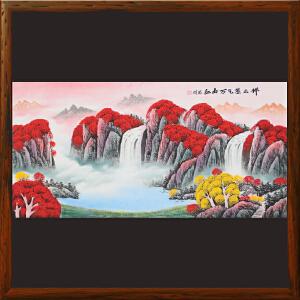 《祥云紫气万山红》横幅山水画 高忠明 一级美术师R4341
