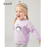 【活动价:108】安奈儿童装女小童卫衣套头2020春季新款女宝宝廓形感长袖T恤衫