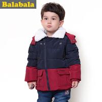 巴拉巴拉balabala 童装 男童 时尚毛领羽绒服幼童宝宝上衣2015儿童冬装新款