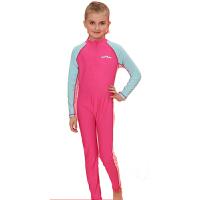 YINGFA英发 Y0333泳衣 儿童全身连体长袖防晒泳衣 男女儿童保暖运动训练泳衣