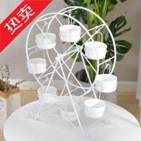 欧式白色摩天轮杯子蛋糕架婚庆甜品台纸杯架8杯旋转纸杯架KTV果盘