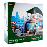 [当当自营]BRIO 声光城际列车豪华套装 儿童益智拼插木制轨道小火车玩具 BR33514