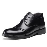 冬季男士商务正装棉皮鞋冬天棉鞋男保暖加绒皮棉鞋加厚防水男鞋冬