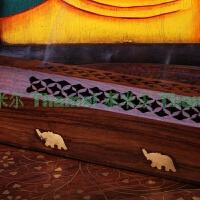 印度香盒 菩提木卧式熏香座手工大象塔香薰炉线香具香炉 实木香盒 2 轻微瑕疵